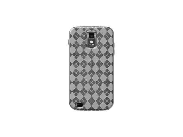 Amzer Luxe Argyle High Gloss TPU Soft Gel Skin Case - Clear For Samsung Galaxy S II SGH-T989