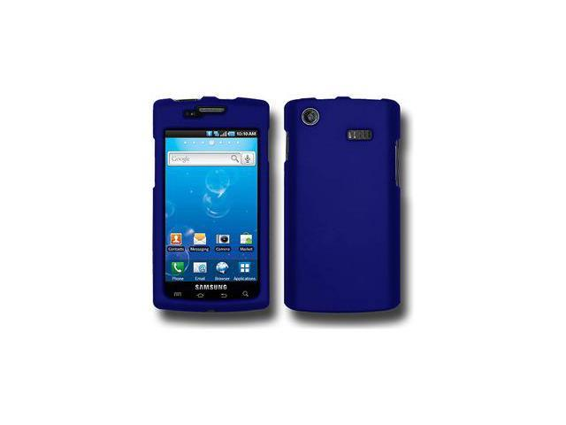 Amzer Rubberized Blue Snap On Crystal Hard Case For Samsung Captivate i897