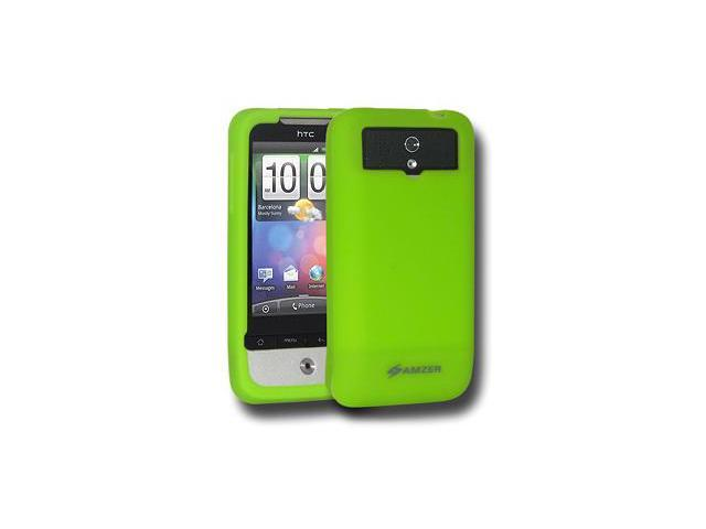 Amzer Silicone Skin Jelly Case - Green For HTC Legend