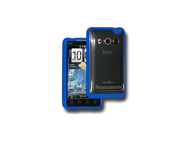 Amzer TPU Hybrid Case - Blue For HTC EVO 4G