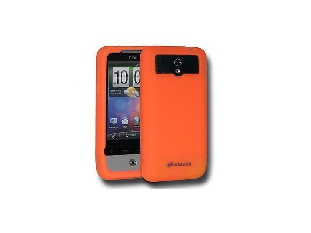 Amzer Silicone Skin Jelly Case - Orange For HTC Legend