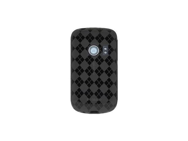 Amzer Luxe Argyle High Gloss TPU Soft Gel Skin Case - Smoke Grey For Huawei Comet U8150