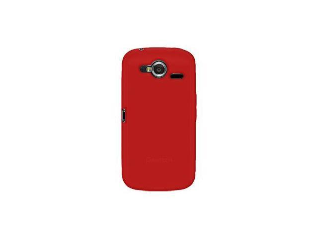 Amzer Silicone Skin Jelly Case - Red For Pantech Burst P9070