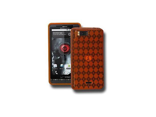 Amzer Luxe Argyle Skin Case - Orange For Motorola Milestone X,Motorola Droid X2 MB870