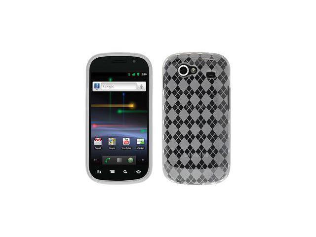 Amzer Luxe Argyle High Gloss TPU Soft Gel Skin Case - Clear