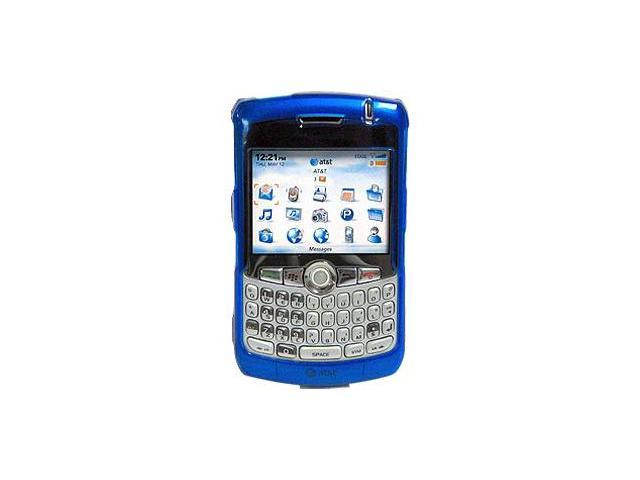 Amzer Blue Transparent Snap On Case For BlackBerry 8330