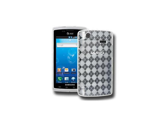 Amzer Luxe Argyle Skin Case - Clear For Samsung Captivate i897