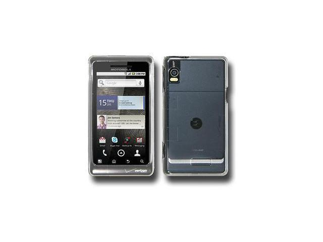 Amzer Clear Snap On Crystal Hard Case For Motorola Droid 2 A955