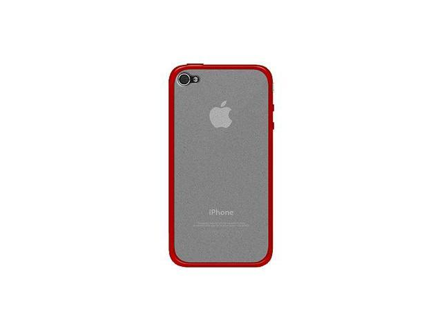 Amzer TPU Hybrid Case - Red For iPhone 4