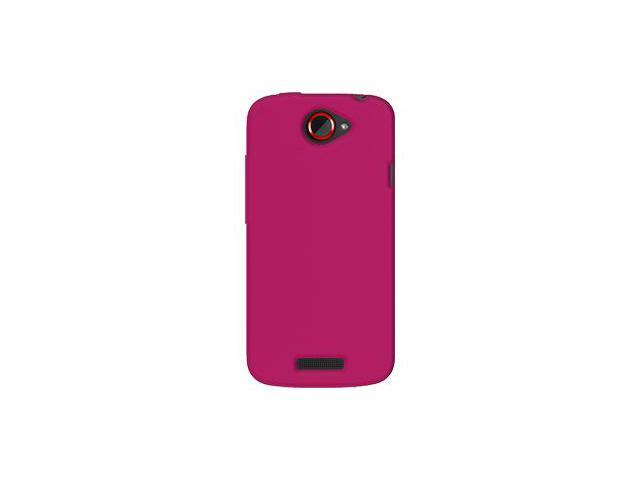 Amzer Silicone Skin Jelly Case - Hot Pink For HTC One S