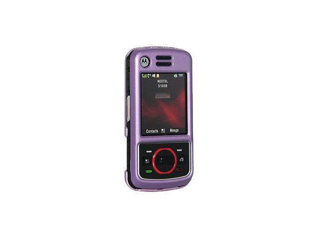 Amzer Polished Purple Snap On Crystal Hard Case For Nextel i856