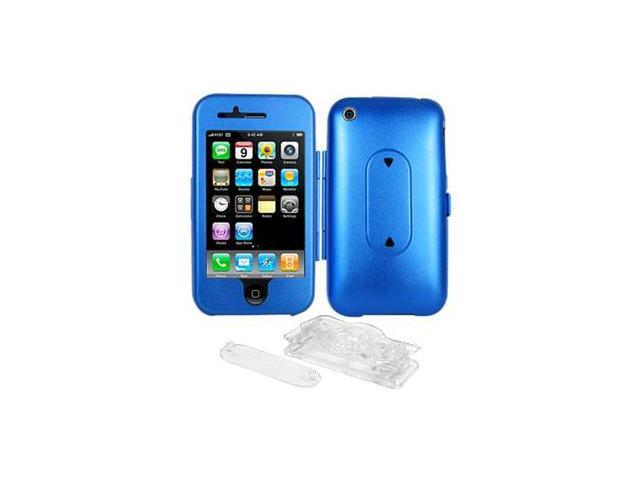 Amzer Aluminum Case w/ Stand - Blue For iPhone 3G,iPhone 3G S