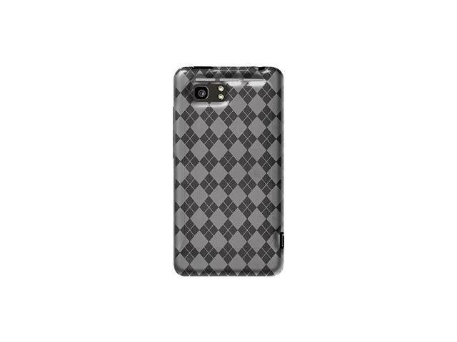Amzer Luxe Argyle High Gloss TPU Soft Gel Skin Case - Clear For HTC Vivid
