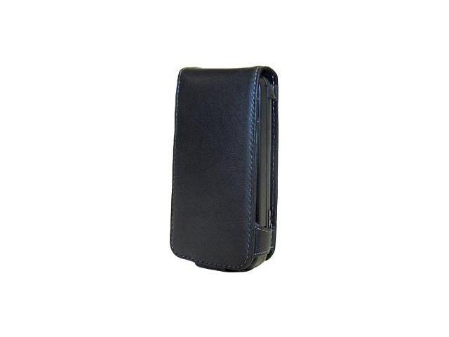 Amzer Leather Flip Type Case ® Black For HTC Dream
