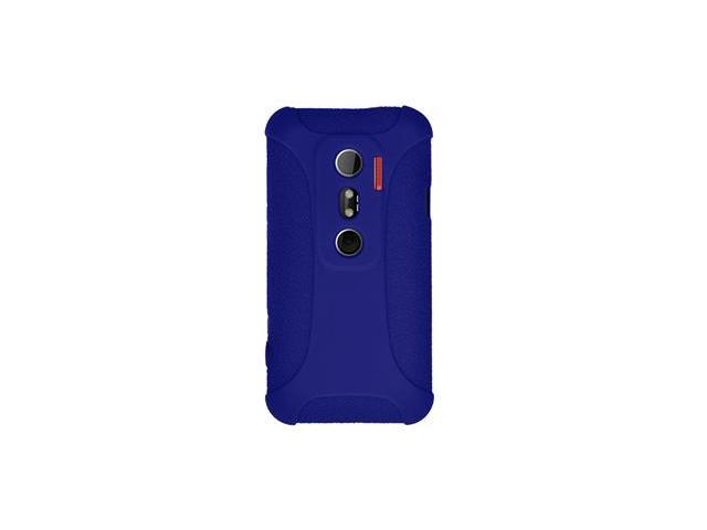 Amzer Silicone Skin Jelly Case - Blue For HTC EVO 3D