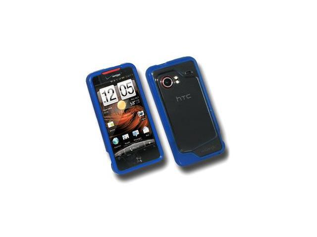 Amzer TPU Hybrid Case - Blue For HTC DROID Incredible PB31200
