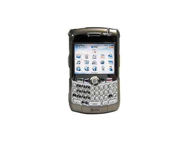 Amzer Smoke Black Transparent Snap On Case For BlackBerry 8330