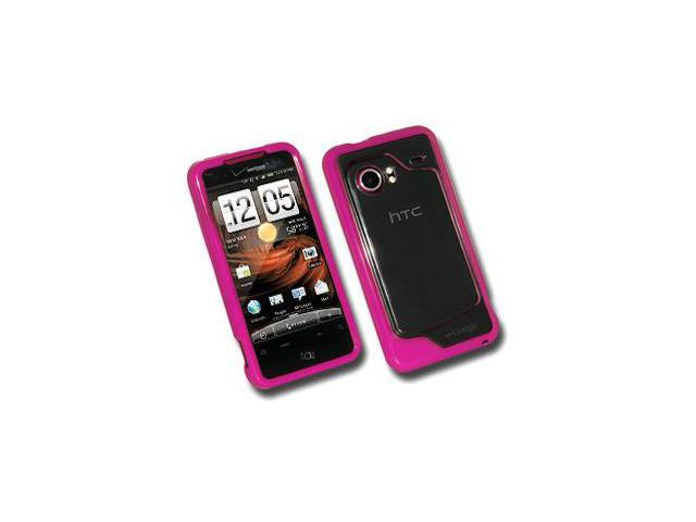 Amzer TPU Hybrid Case - Hot Pink For HTC DROID Incredible PB31200