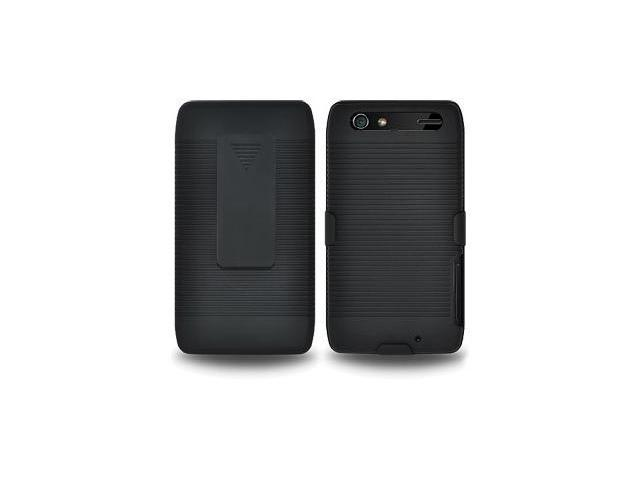 Amzer Shellster® - Black For Motorola Droid RAZR MAXX XT912