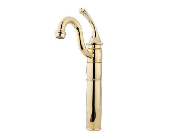 GEORGIAN VESSEL SINK FAUCET WITHOUT DRAIN-Polish Brass Finish