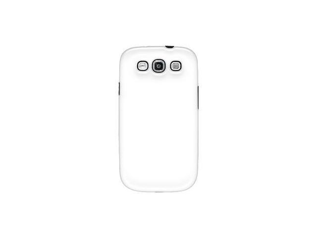 Amzer Slim Line Double Layer Protective Case - White/ Black For Samsung GALAXY S III GT-I9300