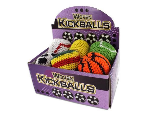 24 Piece Sports Themed Kick Sack Display - Case Of 24