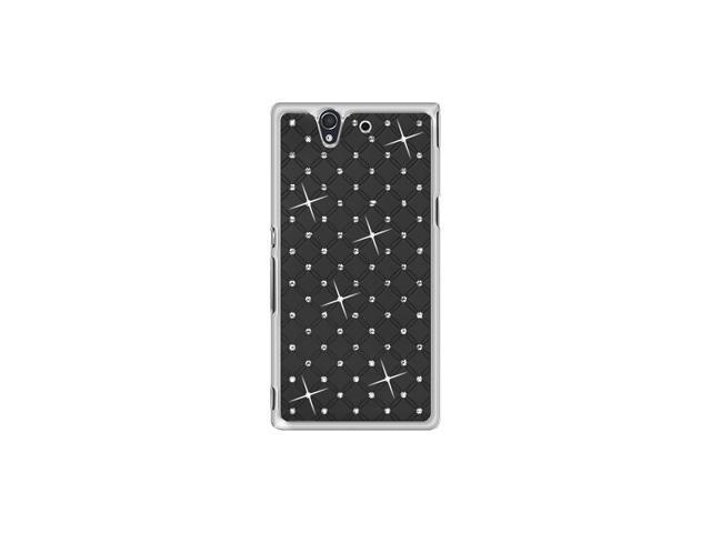 Amzer Diamond Lattice Snap On Shell Case - Black For Sony Xperia Z L36i