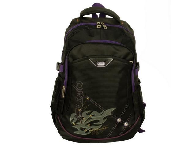 Blancho [Purple Zipper] Chic Multiurpose Backpack / School Bag / Dayback / Outdoor Backpack - Black