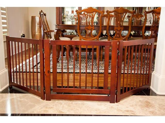PrimeTime 360 degree 3-Panel Wooden Household Children Safety Configurable Gate Furniture
