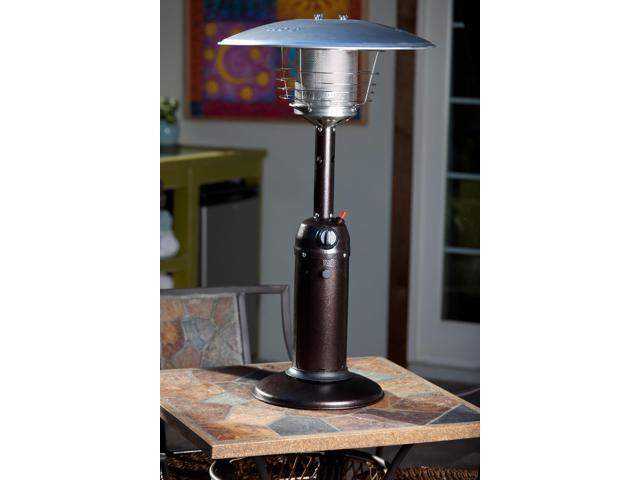 WT Living Hammer Tone Bronze Finish Table Top Outdoor Patio Heater