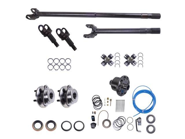 Alloy USA This front axle shaft conversion kit from Alloy USA includes an ARB air locker chromoly inner and outer axle shafts unit bearings U-joints & seals 12232-ARB