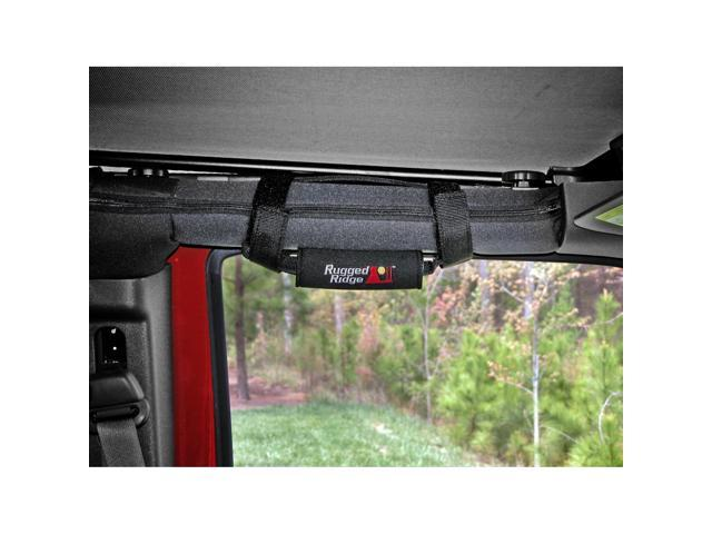 Rugged Ridge 13305.30 Neoprene Grab Handles, Black, 55-14 Jeep CJ And Wrangler