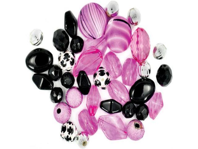 Design Elements Beads 28g-Black Beauty