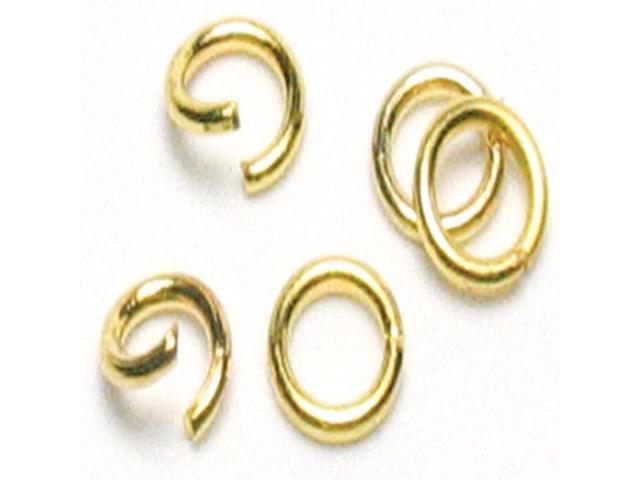 Jewelry Basics Metal Findings 500/Pkg-Gold Jump Rings 4mm