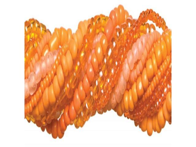 Jewelry Basics Glass Seed Bead Mix 90g-Orange
