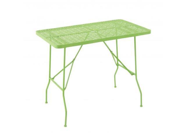 Floral Metal Foldable Outdoor Table