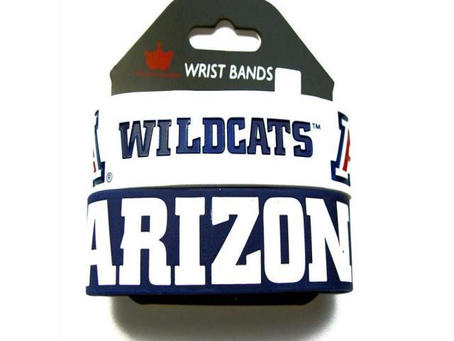 NCAA Set Of 2 Arizona Wildcats Sports Team Logo Rubber Wrist Band