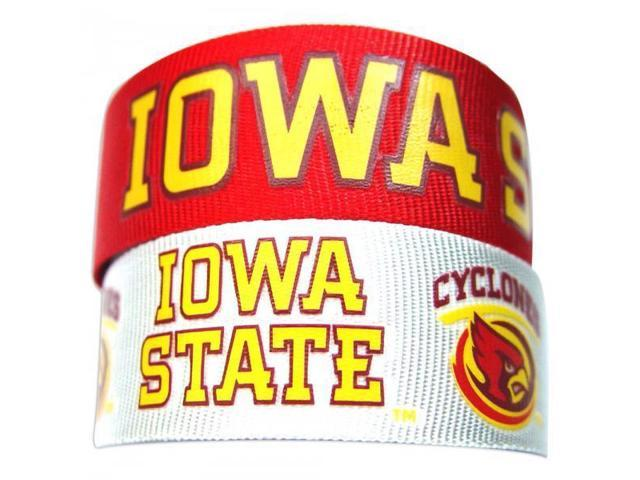 Iowa State Cyclones Slap Snap Wrap Wrist Band (Set of 2) NCAA
