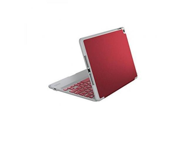 ZAGG Ultra-Slim Folio Case, Hinged Multi-View Bluetooth Keyboard for iPad Air 2, Crimson Red