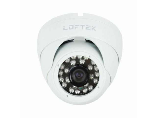 Loftek Dome-Shaped 24 IR LED Day/Night Vision Security CCTV Camera (White)