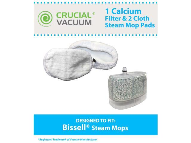 1 Bissell Vacuum Cleaner Water-Calcium Filter & 2 Mop Pads&#59; Fits The Bissell Vacuum Steam Mop 218-5600&#59; Part # 2185600, 218-5600, ...