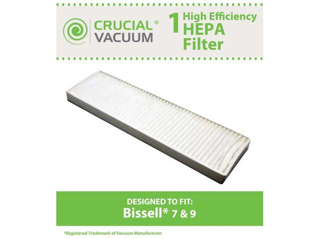 Bissell Style 7, Style 9 HEPA Filter&#59; Compare to Bissell Part#32076&#59; Designed & Engineered by Crucial Vacuum