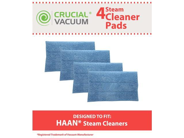 Set of 4 Blue Steam Pads fits HAAN SI-25, SI-40, SI-60, SI-70, SI-35 Steam Mop, SV-60, or MS-30 Steam Cleaner Floor Sanitizer ...