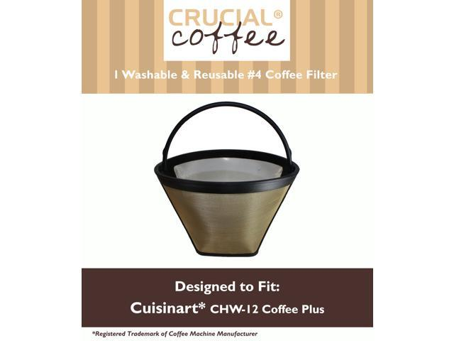 Programmable Coffee Maker Cone Filter : Washable & Reusable Coffee Filter #4 Cone Fits Cuisinart CHW-12 Coffee Plus 12-Cup Programmable ...