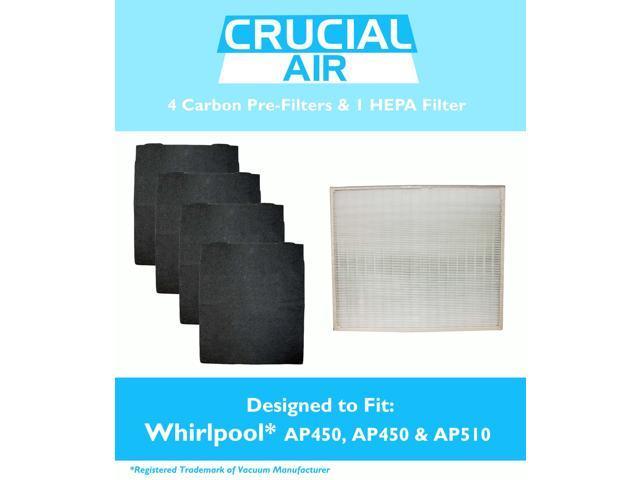 Whirlpool Air Purifier Ap51030k Crucial Air HEPA Air Purifier Filter & 4 Odor Neutralizing ...
