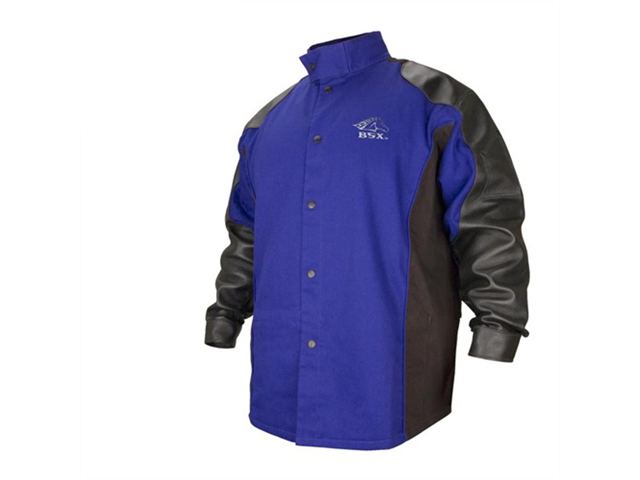Revco BSX BXRB9C/PS Cotton/Pigskin Welding Jacket Blue/Black X-Large