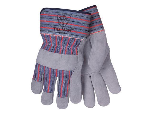 Tillman 1505 Slightly Select Cowhide/Canvas Back Work Gloves, Large Pkg = 12