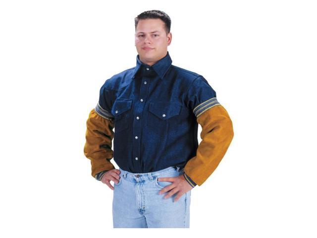 Tillman 5218E Kevlar Sewn Side Split Cowhide Sleeves with Elastic Closure