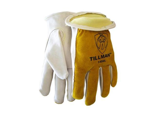 Tillman 1454 Grain/Split Cowhide Kevlar Sock Lined Drivers Gloves, 2X-Large