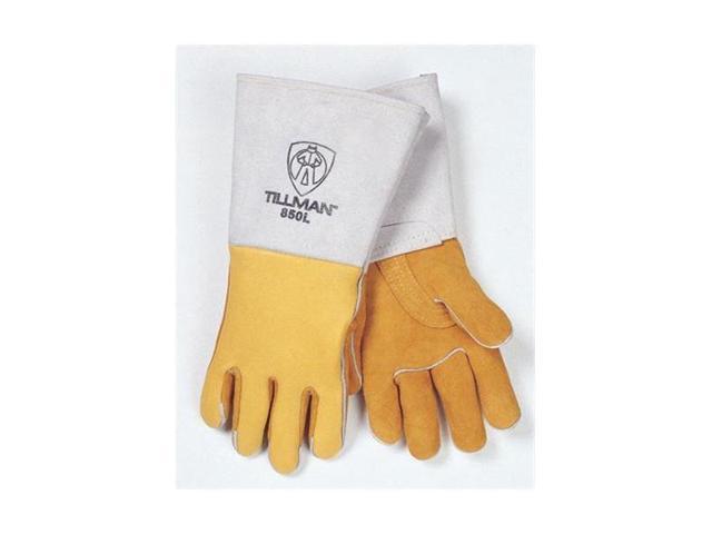 Tillman 850 Premium Top Grain Golden Elkskin Welding Gloves, Medium